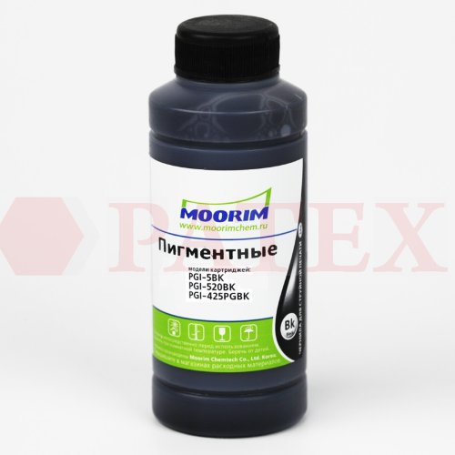 Moorim Чернила для Canon iP4840, MP540, MG8240, iX6540 (PGI-5, 520, 425), 100 мл.,Black, Pigment Чернила (краска) Moorim для Canon iP4840, MP540, MG8240, iX6540 (PGI-5, 520, 425), 100 мл.,Black, Pigment